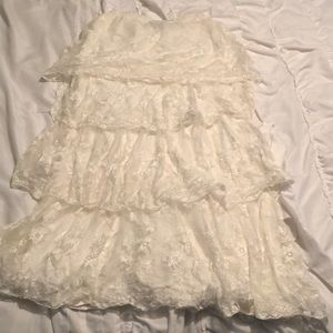 Ruffles lace skirt